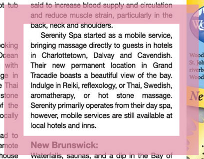 Relax! Great Spa Getaways Across Atlantic Canada excerpt – Saltscapes Food and Travel 2016